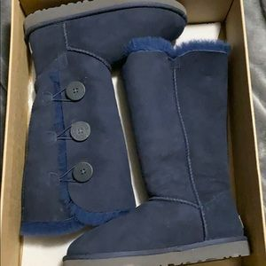 Blue Bailey Triple Button Uggs